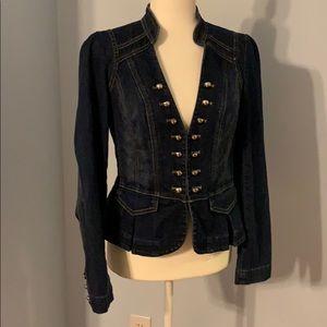 WHBM Military style denim jacket